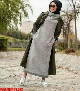 65514abba3822 اجمل ملابس المحجبات في شتاء هذا العام. موضات شتاء 2019 للمحجبه