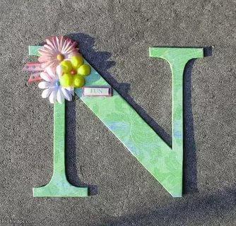 صور صور حرف n , اجمل صورة مزخرفة لحرف n