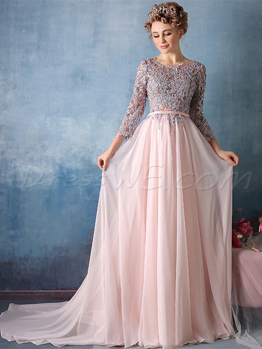 بالصور فساتين طويله فخمه , اجمل الفساتين الراقية 3898 2