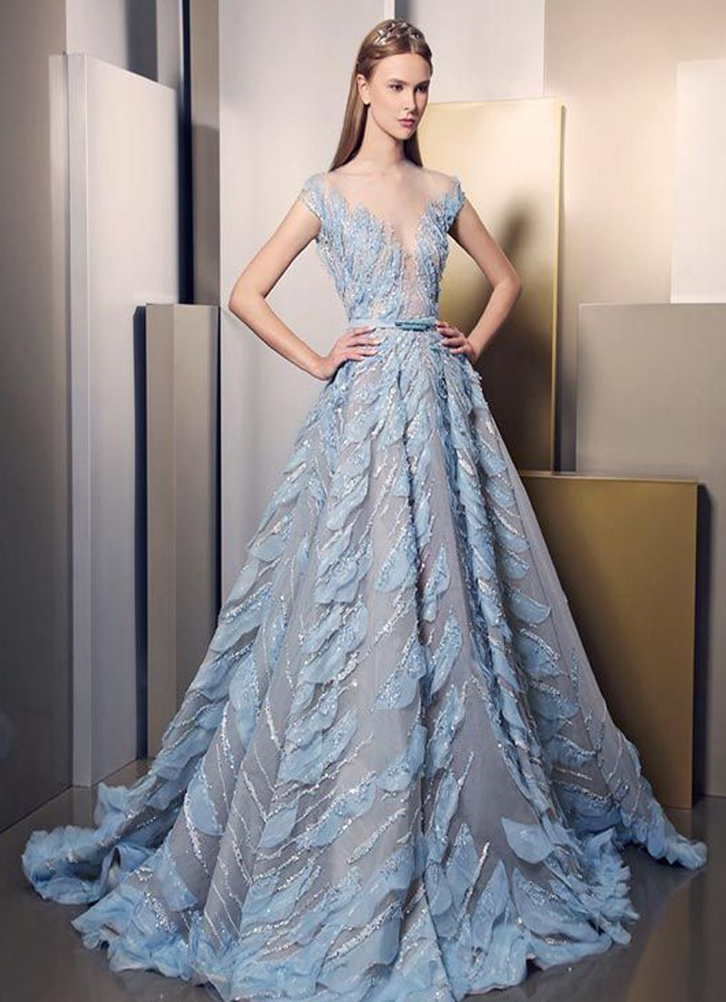 بالصور فساتين طويله فخمه , اجمل الفساتين الراقية 3898 3
