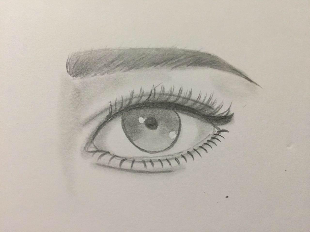 رسومات بالرصاص كيفيه تعلم الرسم عيون الرومانسية