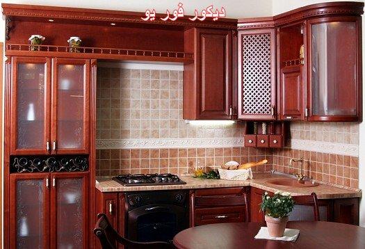 بالصور الوان مطابخ خشب , احدث تصميمات والوان المطبخ العصرى 609 5