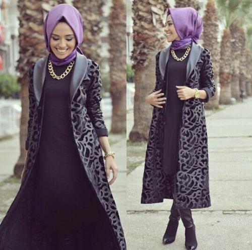 صور ملابس شتوية للمحجبات تركية , اجمل المودلات للبس التركى للمحجبات