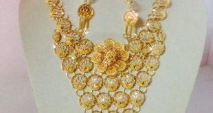 صورة طقم ذهب , صور اجمل المشغولات الذهبيه