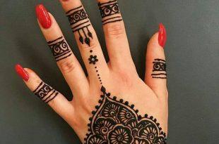 صور رسومات حنة بسيطة , اجمد رسومات حناء على اليد للعرائس والبنات