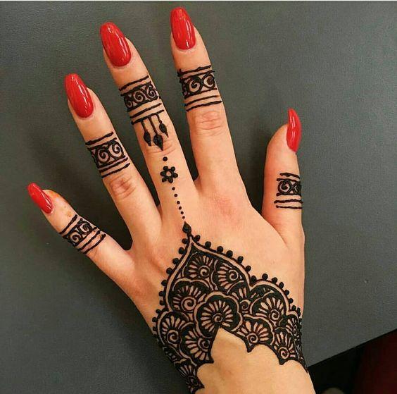 رسومات حنة بسيطة اجمد رسومات حناء على اليد للعرائس والبنات