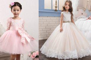 صور فساتين سواريه اطفال , احدث موديلات الفساتين السواريه
