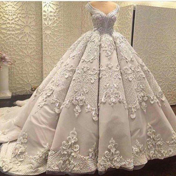 صورة فساتين زفاف فخمه , تالقى يوم زفافك بهذا الفستان المميز