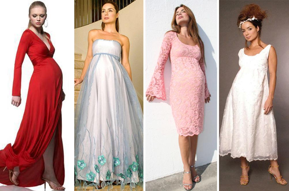بالصور فساتين اعراس للحوامل , اجمل الفساتين السوراية للحوامل 842 5