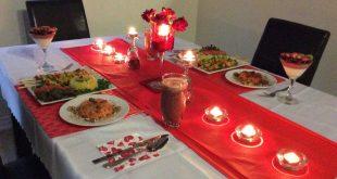 صورة عشاء رومانسي في البيت , اجمل الصور معبرة عن عشا رومنسى
