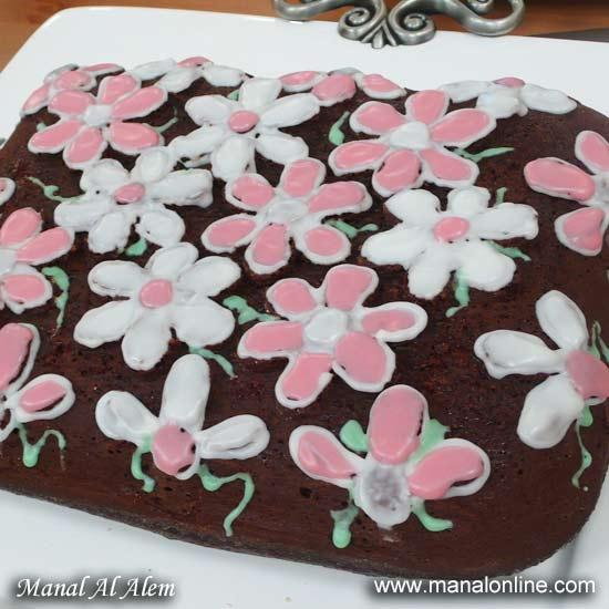صورة طريقة عمل كيكة الشوكولاته منال العالم , خطوات عمل الكيك بالشيكولاته