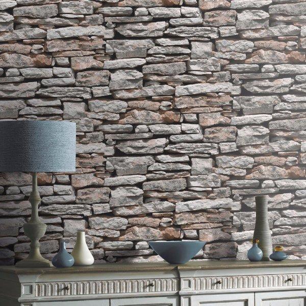 بالصور ورق جدران حجر , روعه الاختيار من افخم ورق حوائط شكل احجار 1282 9