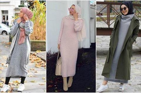 بالصور صور موضه , اجمل ملابس محجبات على الموضة 1448 10