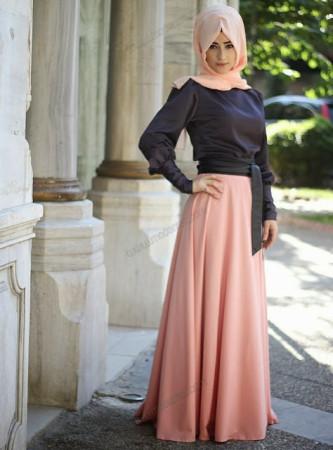بالصور صور موضه , اجمل ملابس محجبات على الموضة 1448 4