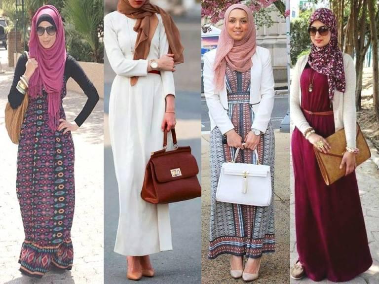 بالصور صور موضه , اجمل ملابس محجبات على الموضة 1448 7