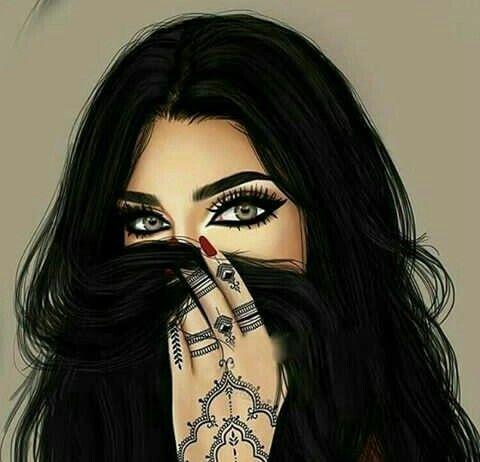 رمزيات كرتون صور حالات بنات كرتونية عيون الرومانسية