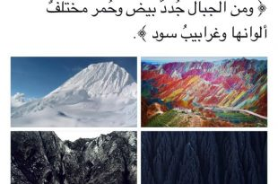 صوره ما معنى غرابيب سود , ما هو معنى قوله تعالى و غرابيب سود