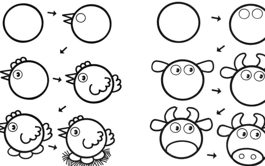 بالصور رسومات جميلة وسهلة , اجمل صور رسومات اطفال بالقلم الرصاص للتعليم 1544 5