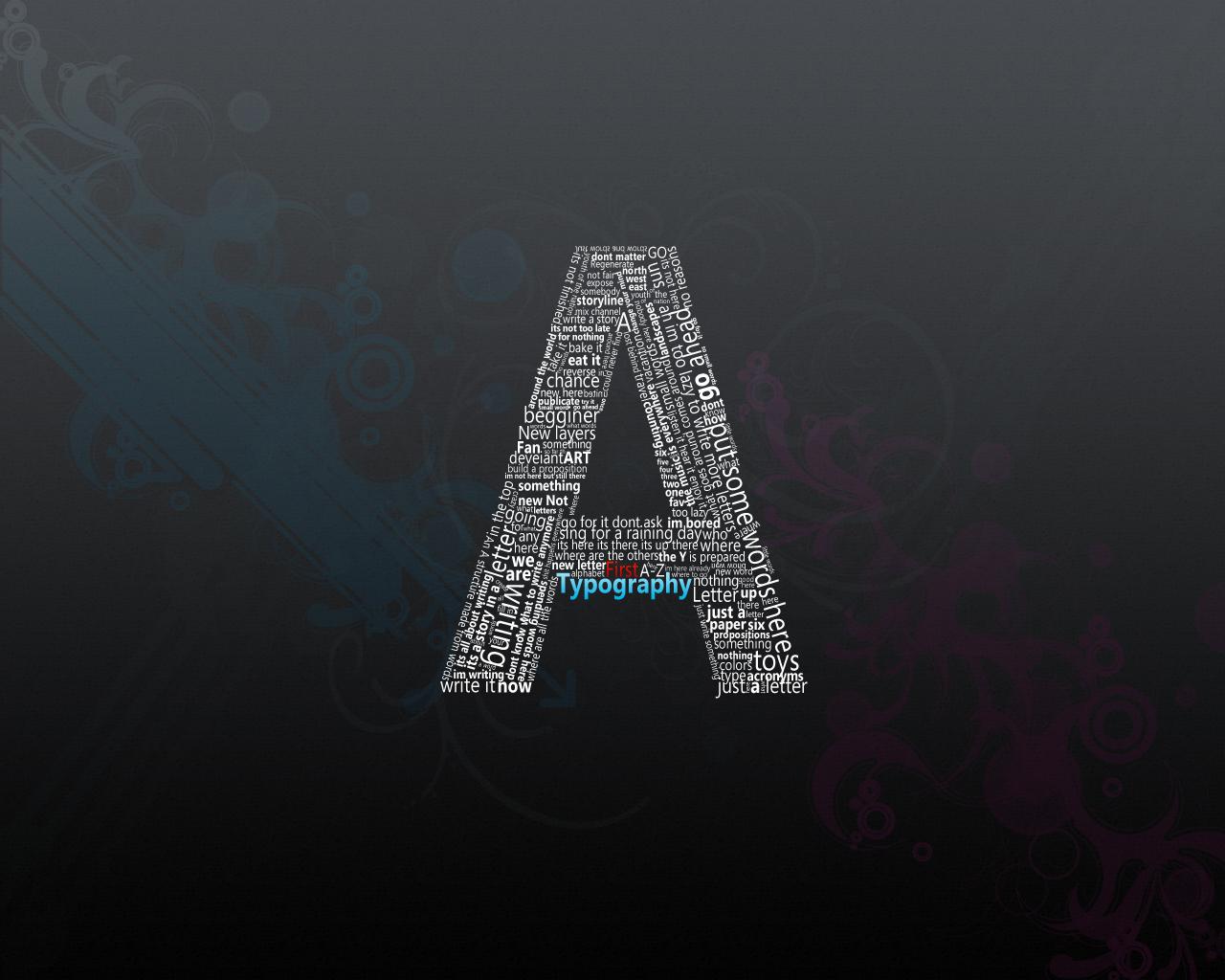 خلفيات حرف A خلفيات حروف عيون الرومانسية