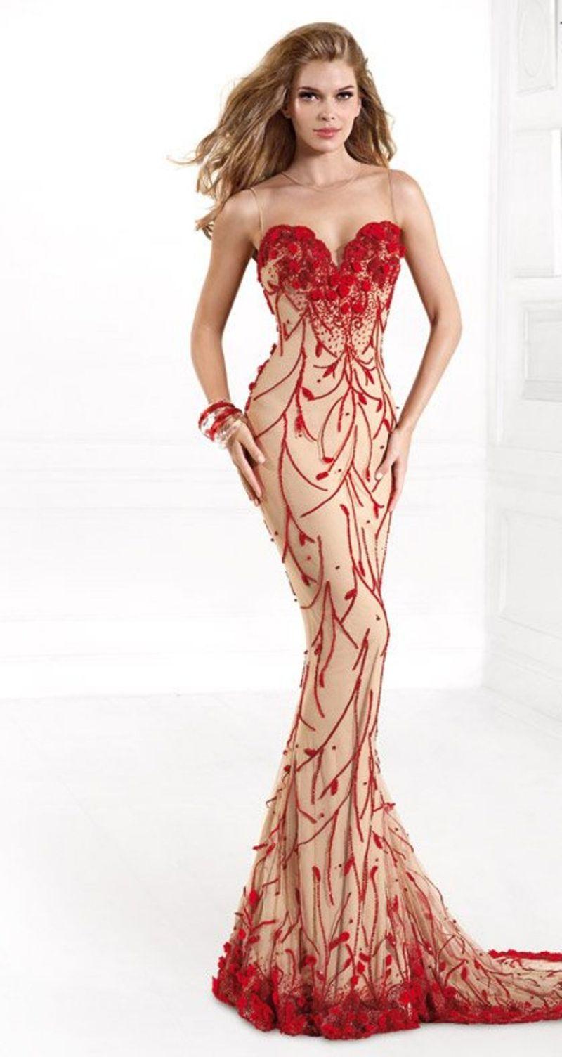 بالصور موديلات فساتين سهرة , موديلات حديثة الفساتين 3356 1