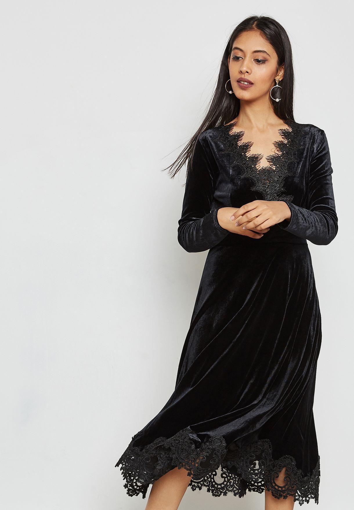 بالصور فستان مخمل , اجمل موضة فساتين 2019 3457 8