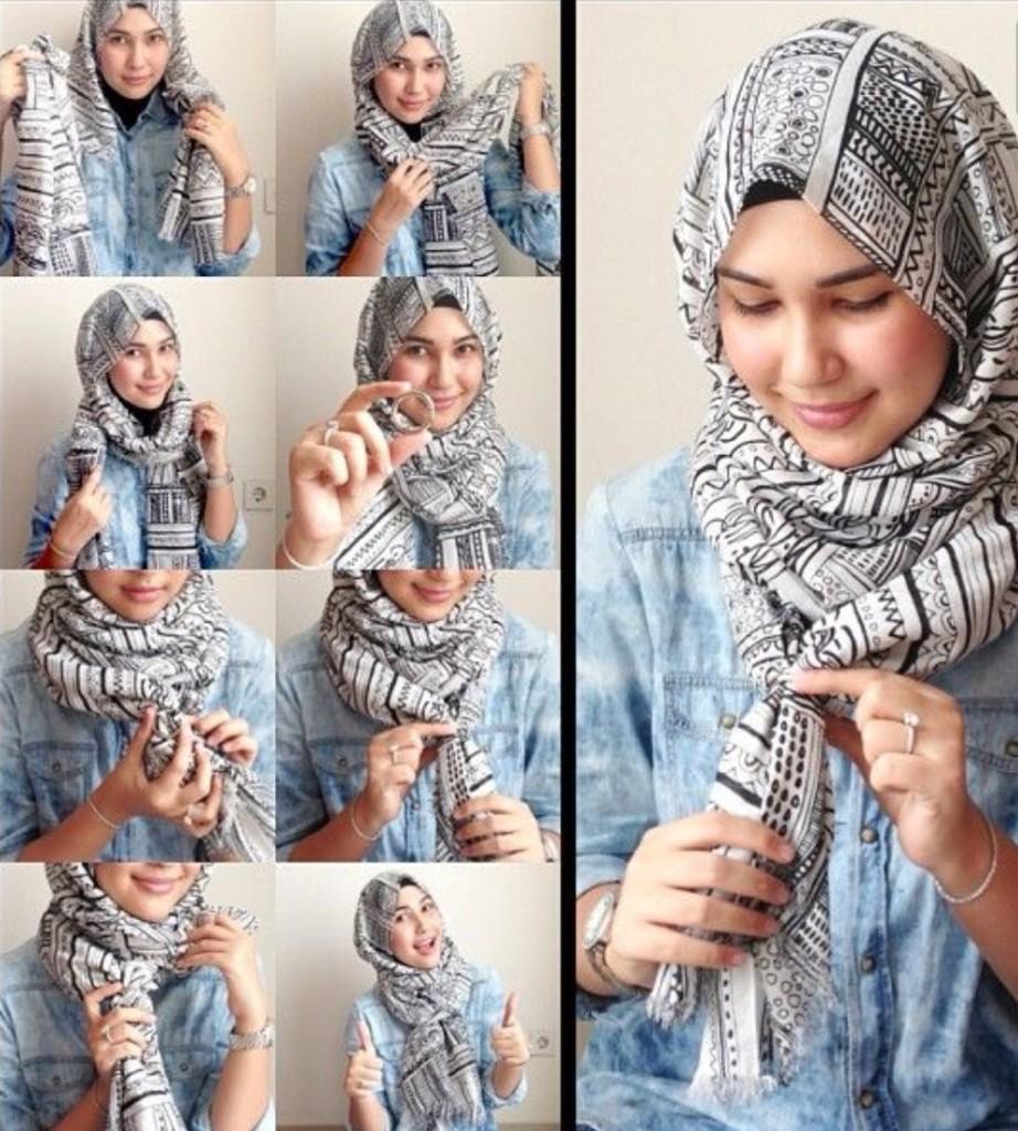 صوره طرق لف الحجاب , تعرفي علي طريقة لف الحجاب