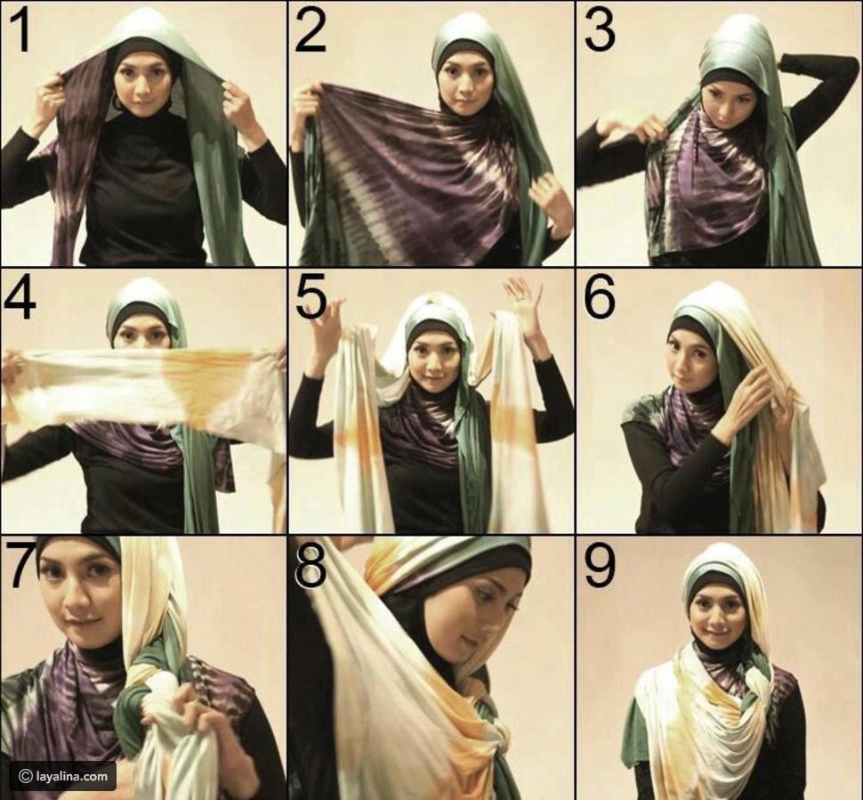 بالصور طرق لف الحجاب , تعرفي علي طريقة لف الحجاب 3630 2