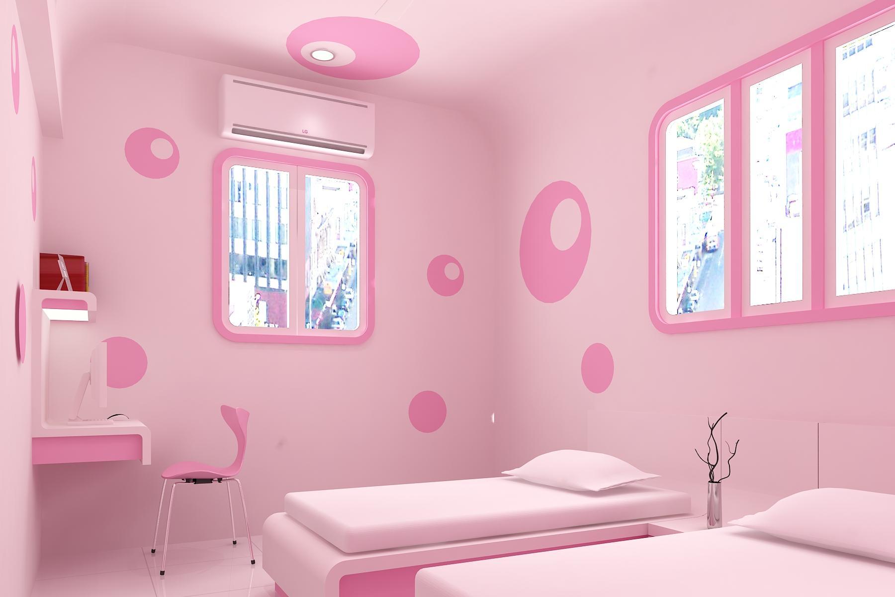 بالصور غرف اطفال بنات , صور تصميمات غرف لارق واجمل بنوته 3640 5
