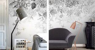 صورة ورق جدران رمادي , احلى ديكور ورق جدار رمادي للغرف و الانترية