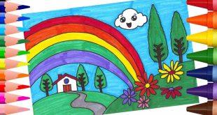 بالصور رسم منظر طبيعي سهل للاطفال , مناظر طبيعية لتعليم الرسم للاطفال 5072 13 310x165