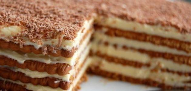 بالصور طريقة عمل حلى سهل بالبسكويت , حلويات لذيذه وبدون فرن فقط بالبسكويت 513