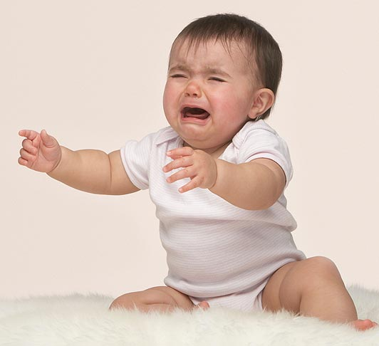 صوت طفل رضيع يبكي