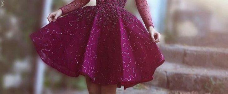 بالصور فساتين قصيرة منفوشة , اجدد فستان منفوش للخطوبه والزفاف 6267 6