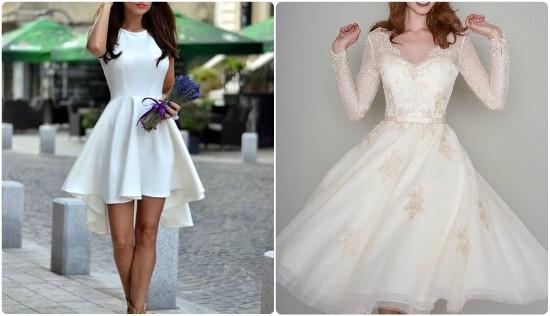 بالصور فساتين قصيرة منفوشة , اجدد فستان منفوش للخطوبه والزفاف 6267 7