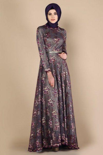 بالصور فساتين تركية للمحجبات , فستان تركى رائع وانيق 6625 1