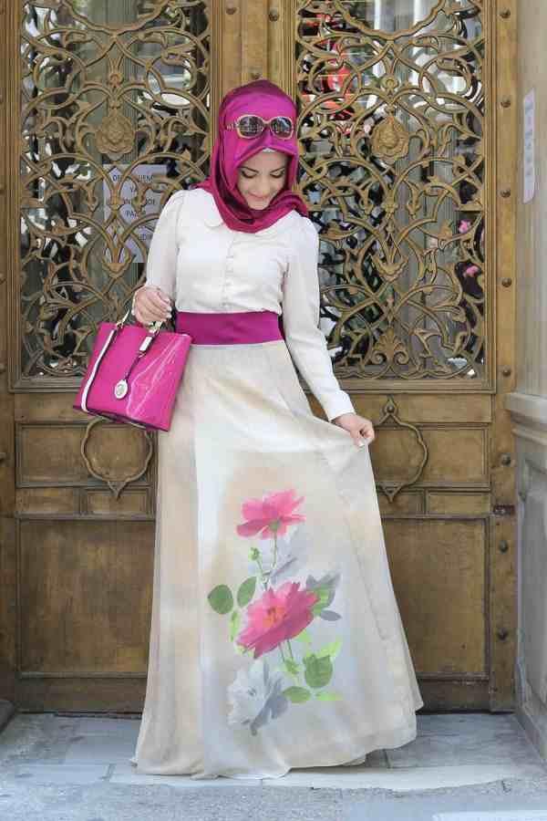 بالصور فساتين تركية للمحجبات , فستان تركى رائع وانيق 6625 10