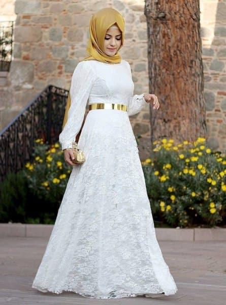 بالصور فساتين تركية للمحجبات , فستان تركى رائع وانيق 6625 3
