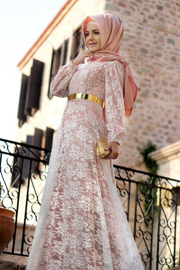 بالصور فساتين تركية للمحجبات , فستان تركى رائع وانيق 6625 6