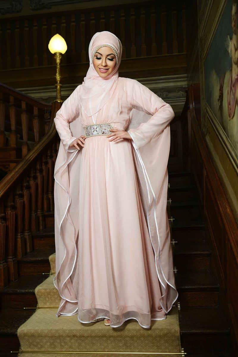 بالصور فساتين تركية للمحجبات , فستان تركى رائع وانيق 6625 8