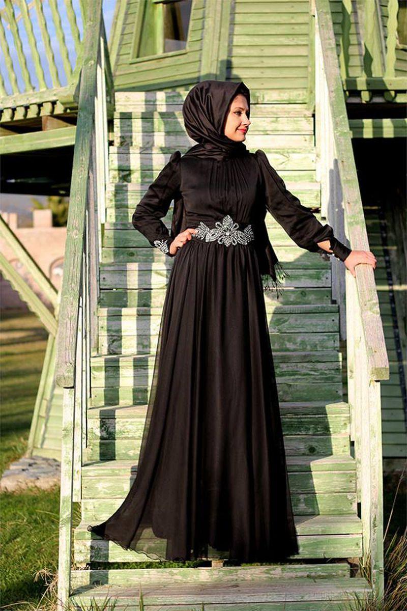 بالصور فساتين تركية للمحجبات , فستان تركى رائع وانيق 6625 9