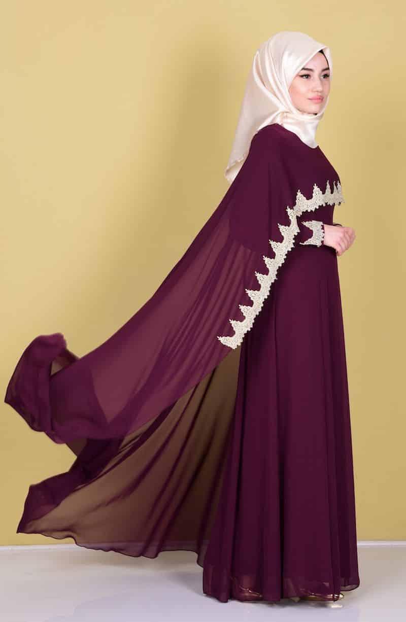 صورة فساتين تركية للمحجبات , فستان تركى رائع وانيق