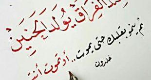 صورة الشعر العربي , اجمل ابيات الشعر