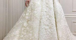 صورة فساتين اعراس للمحجبات , فساتين زفاف انيقة للعروس المحجبة