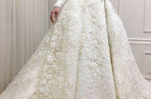 صور فساتين اعراس للمحجبات , فساتين زفاف انيقة للعروس المحجبة