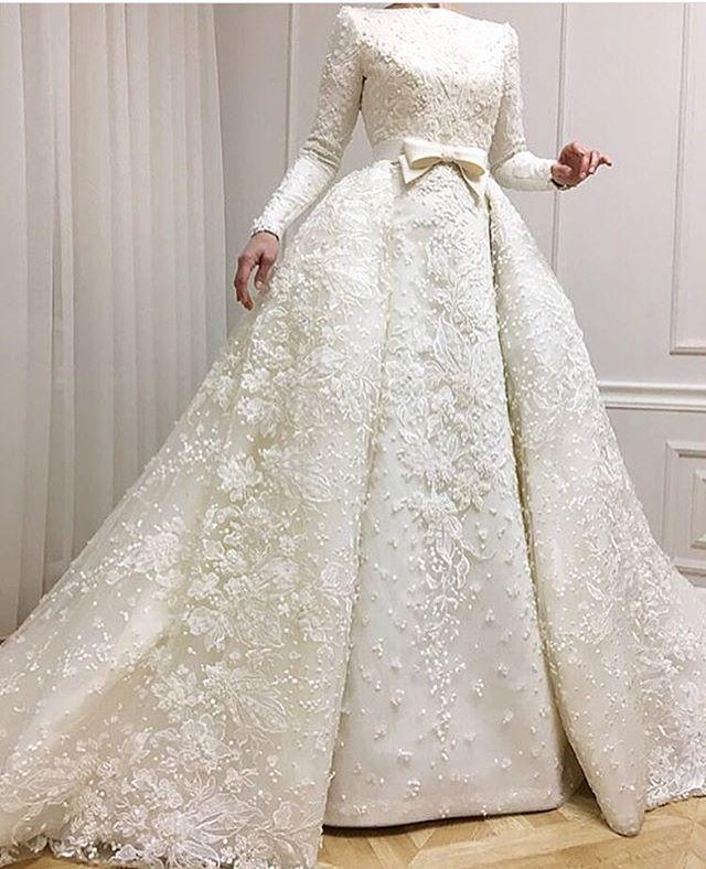 بالصور فساتين زفاف محجبات , ارقي فساتين ليلة العمر للعرائس المحجبات 426