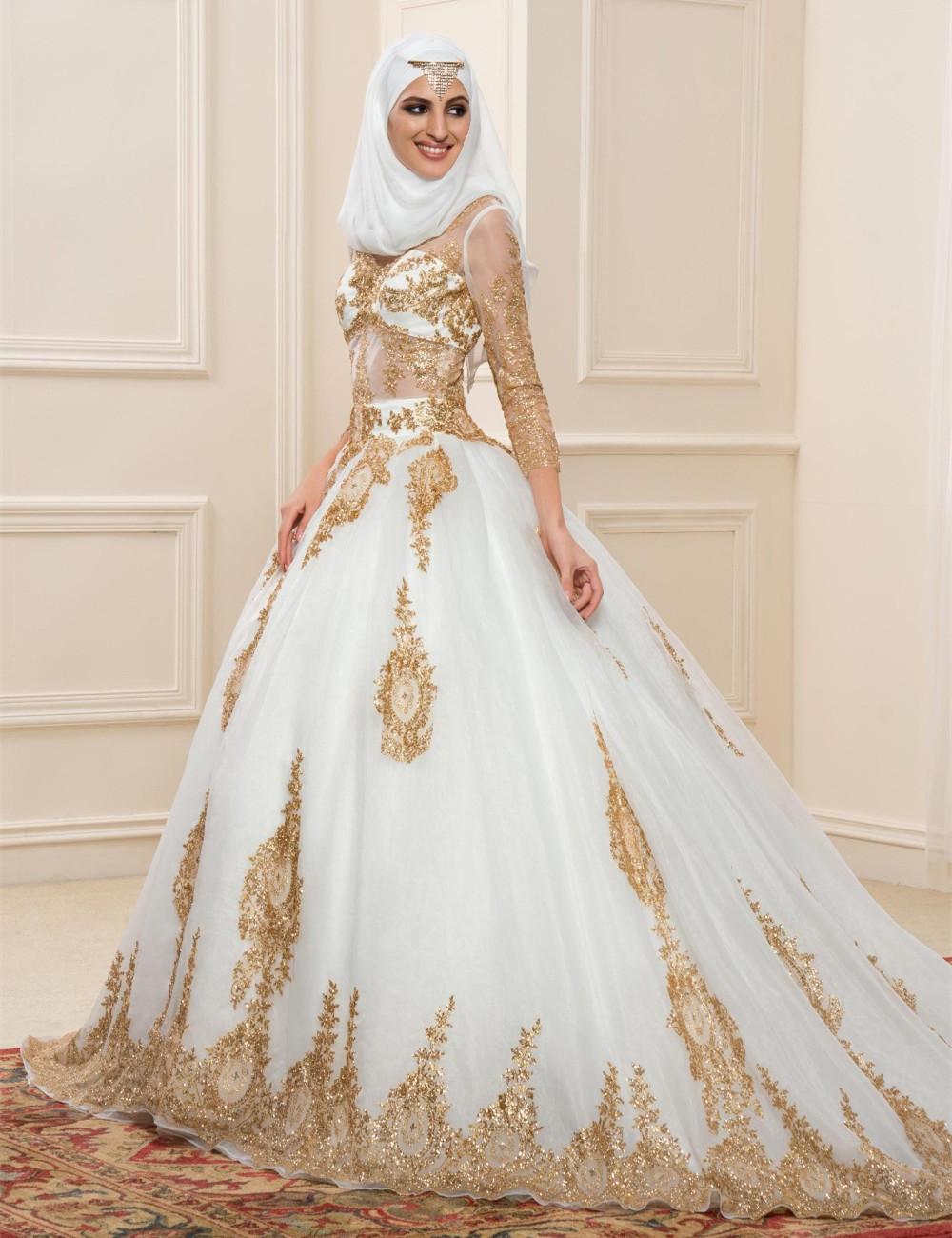 بالصور فساتين زفاف محجبات , ارقي فساتين ليلة العمر للعرائس المحجبات 2075 3