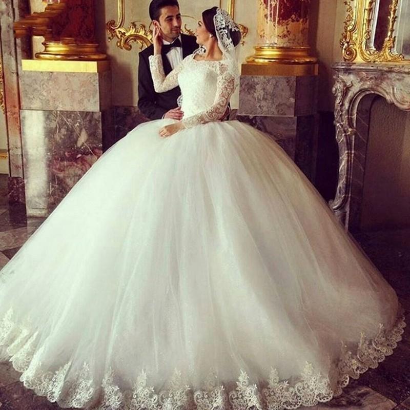بالصور فساتين زفاف محجبات , ارقي فساتين ليلة العمر للعرائس المحجبات 2075 6