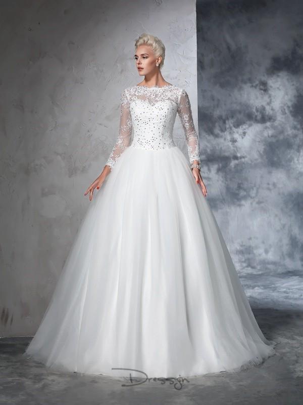 بالصور فساتين زفاف محجبات , ارقي فساتين ليلة العمر للعرائس المحجبات 2075 9