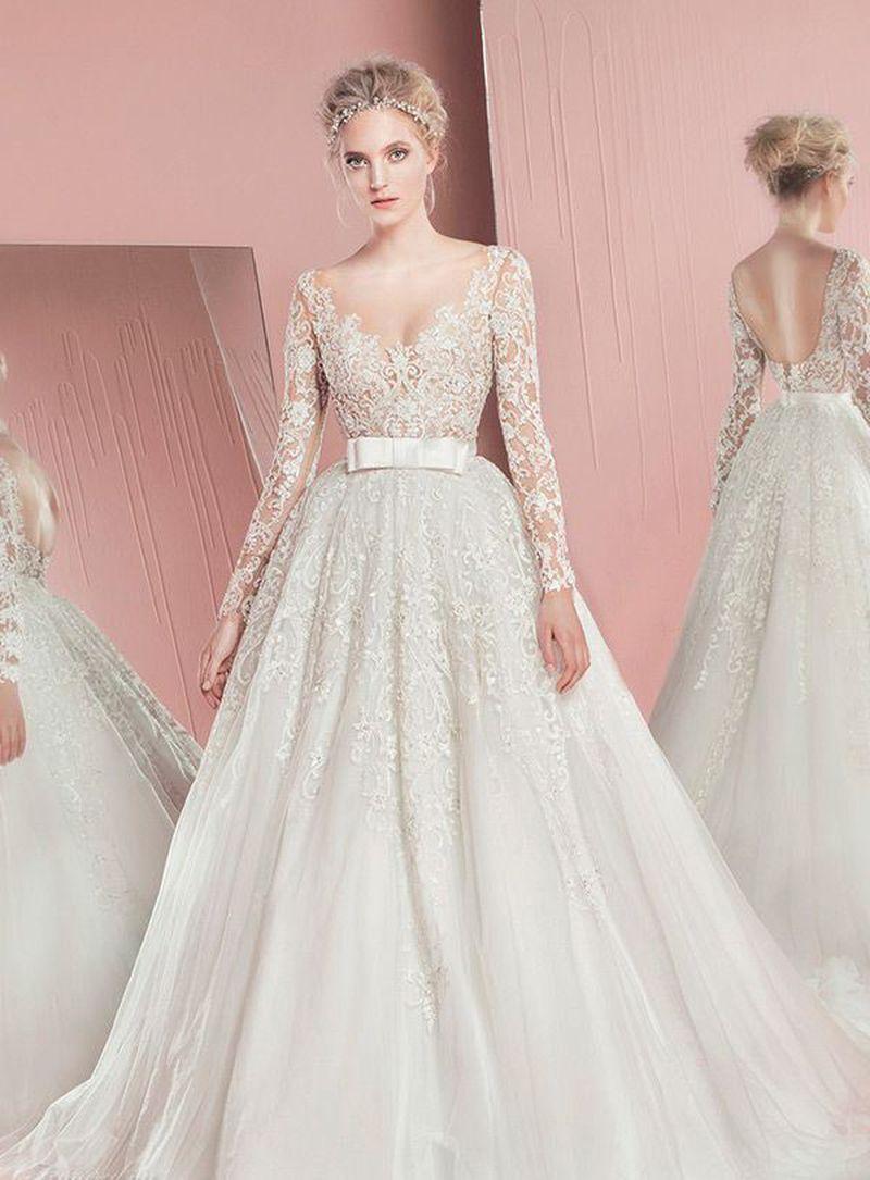 بالصور صور فساتين عروس , موديلات فساتين راقية لعروس 2019 2101 15