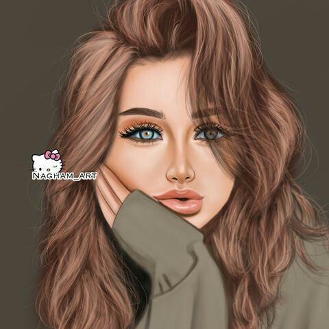 بالصور بنات كيوت رسم , صور بنات مرسومة غاية في الروعة والرقة 2336 2